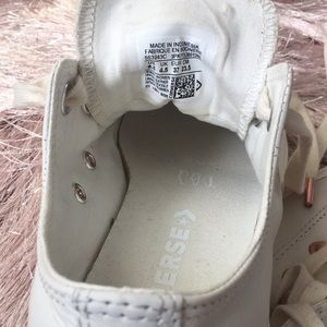 Converse Shoes - Off white leather Converse with rose gold!!!